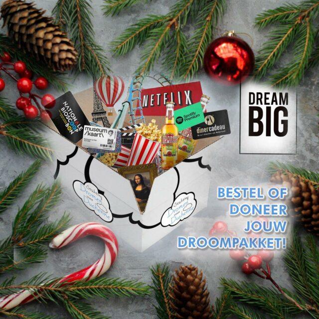 Is het in de kerst drukte toch niet helemaal gelukt een leuk cadeau te vinden?🎁 En vind je het leuk om een goed doel te steunen?  Kijk dan gerust eens naar onze droompakketten actie.☁️Voor de kerstdagen dopen we deze om tot de kerst droompakketten.☁️🎅🎄  Op dit moment staan er drie meters waarvan er al één op 100% staat. Helpen jullie mee om de meters voor Dyon en Jarne te vullen?  Uiteraard hebben we onze website daar ook voor in kerstsfeer gebracht! Hele fijne feestdagen en een fijn en dromerig 2021! #kerstdroompakketten #droompakketten #duchenne #kerst