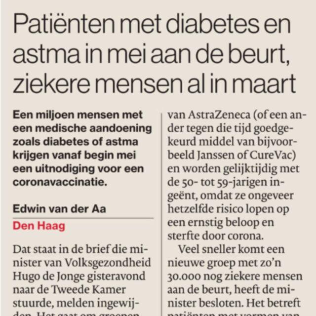 Ook is er nu eindelijk duidelijkheid over het vaccineren voor onze Duchenne doelgroep.  #staysafe #coronavaccinatie #duchenne #stipopdehorizon #houdmoed