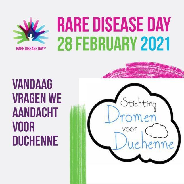 Vandaag is het zeldzame ziekten dag. Op deze dag wordt er wereldwijd aandacht gevraagd voor meer dan 6000 zeldzame ziekten. Voor ons als stichting een bijzondere dag om nog eens extra aandacht te vragen voor Duchenne.  #zeldzameziektendag #rarediseaseday #rareismany #rareisstrong #rareisproud #duchenne